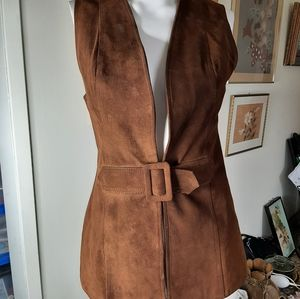 Vintage 60s suede vest from mexico